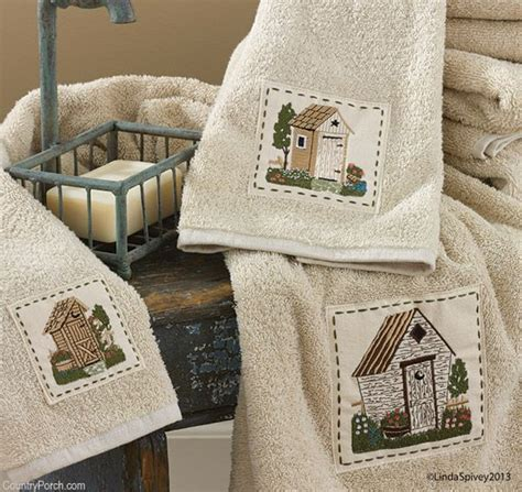 outhouse bathroom decorating ideas outhouse bath towels out house bath decor pinterest