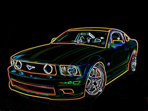 mustang neon neon outline concept mustang by funk meister on deviantart