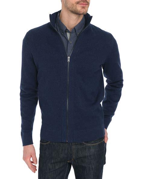 Sweater Temmy Navy navy blue sweater mens sweater jacket