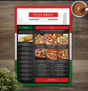 pizza menu design template sle pizza menu template 21 documents in psd