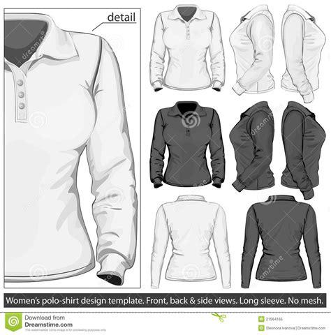 desain jaket hoodie coreldraw women s polo shirt design template long sleeve royalty