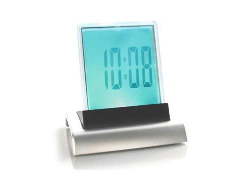 Promo Color Change Digital Desk Clock With Pen Holder Jk 286 7 color lcd digital alarm clock