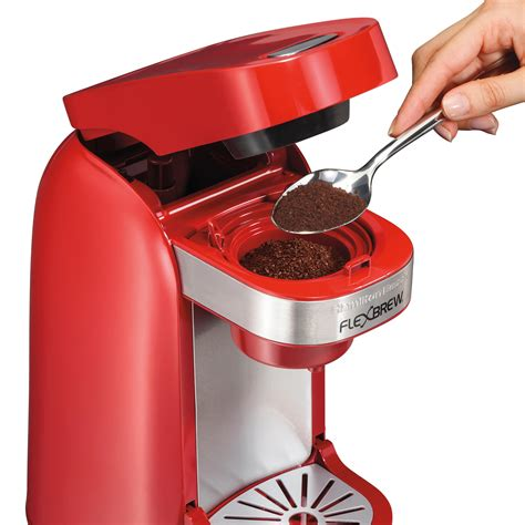 Amazon.com: Hamilton Beach Single Serve Coffee Maker, FlexBrew   Red (49960): Kitchen & Dining