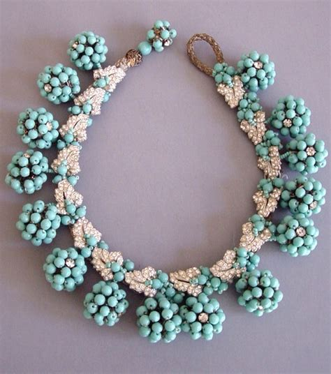 daily miriam haskell aqua glass beaded