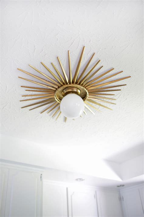 ceiling medallions for light fixtures sunburst mirror medallion diy a beautiful mess
