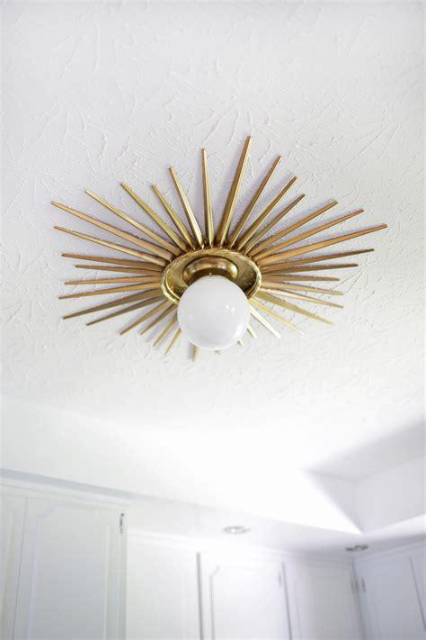 Ceiling Lights Diy Sunburst Mirror Medallion Diy A Beautiful Mess