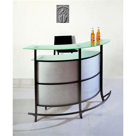 Home Bar Table Adjustable Modern Curve Home Bar Table Black Iron Frame Green Glass Top Black High Stools White