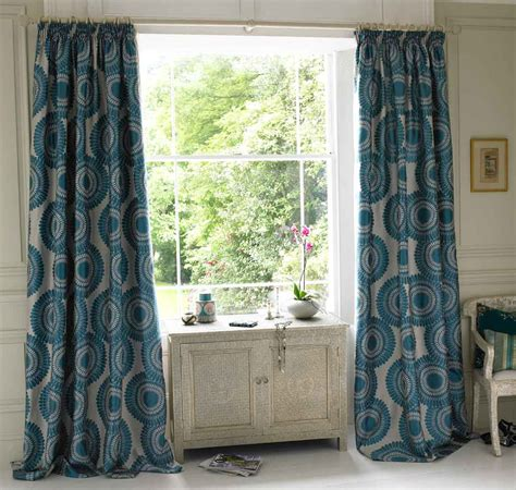 Teal Patterned Curtains Teal Patterned Curtains Uk Home Design Ideas