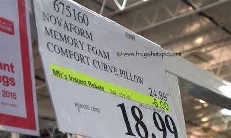 novaform memory foam comfort curve bed pillow costco price