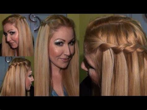 como hacer trenzas cascada paso a paso peinado trenza de cascada waterfall twist braid hairstyle