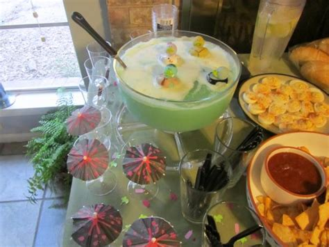 Recipes For Baby Shower by Baby Shower Blue Cloud Punch Recipe Food