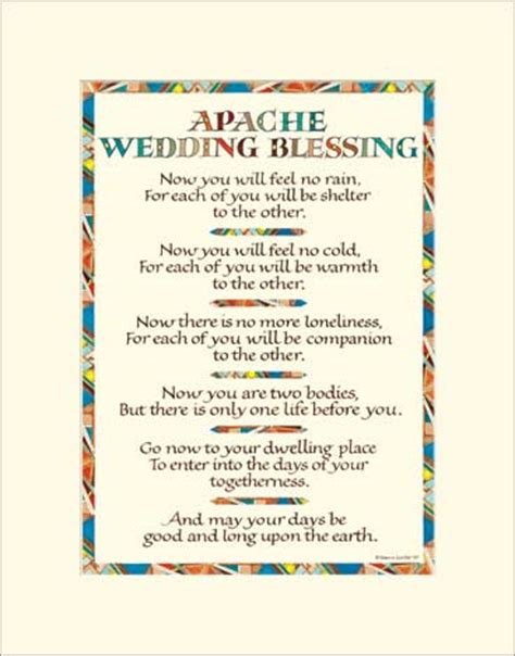 Wedding Blessing Rhymes by Apache Wedding Blessing Wedding Blessing Print