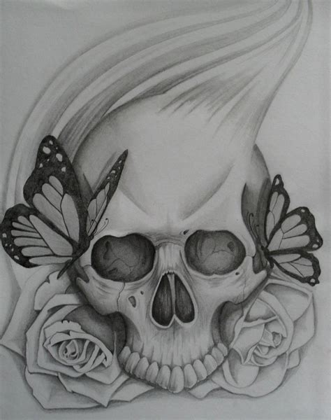 rose and skull tattoo drawings gallery easy skull drawings with roses