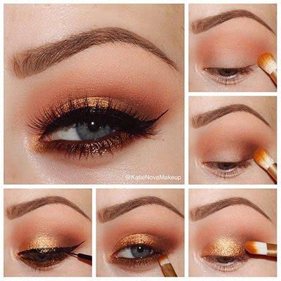 Eyeshadow Orange makeup for blue eyeshadow tutorials for light eyed