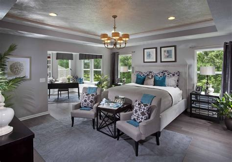 teal accent wall for master home sweet home pinterest teal accent walls teal accents and teal from the dream model home we saw i like the gray walls