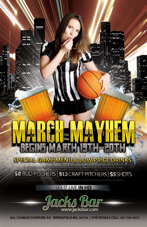 The Madness Begins Free 3 Basketball Themed Psd Flyers For The Big Tournament Nextdayflyers Next Day Flyers Templates