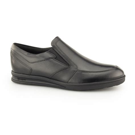 Kickers Leather Slip On kickers troiko slip mens leather office shoes black shuperb