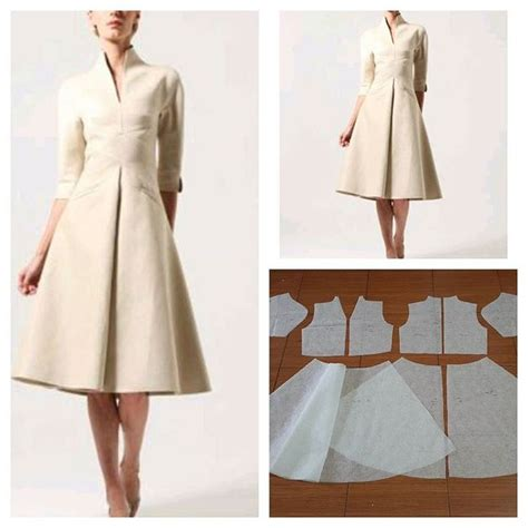 pattern for a line coat gorgeous v high neck dress pattern and front pleat skirt