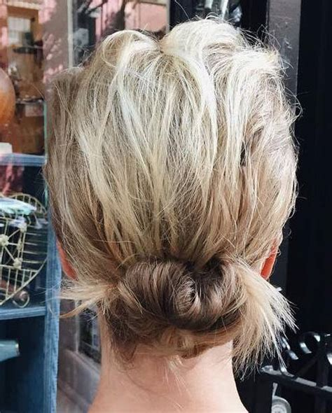 low bun with short hair 35 easy updos you ll love to try easy updo ideas