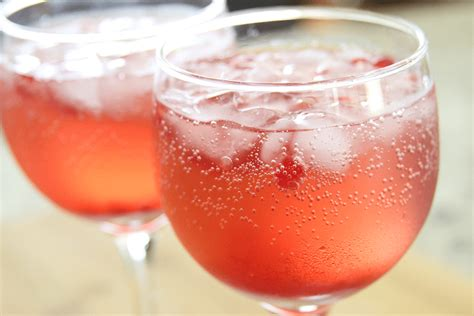 Happy Hour Pomtea Spritzer by Margarita S On The Rocks Slim Trim Pomegranate