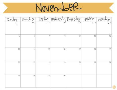 free november calendar template november 2016 calendar free printable live craft eat