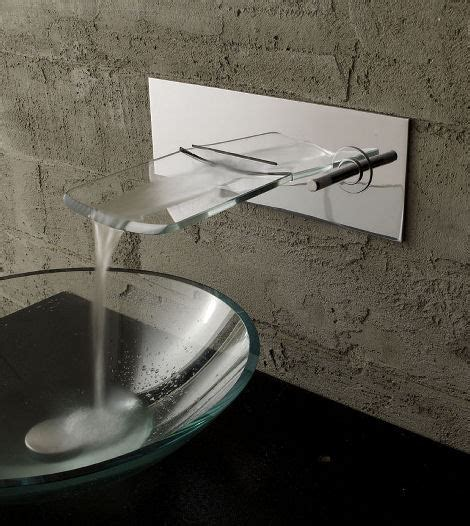 bathroom faucet from bandini the arya glass waterfall faucet