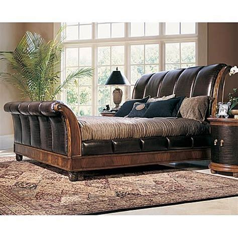 Leather Sleigh Bed Pinterest The World S Catalog Of Ideas