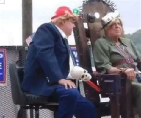 Parade Float Depicts Hillary In Electric Chair Trump Parade Float Depicting Executing Clinton In Electric