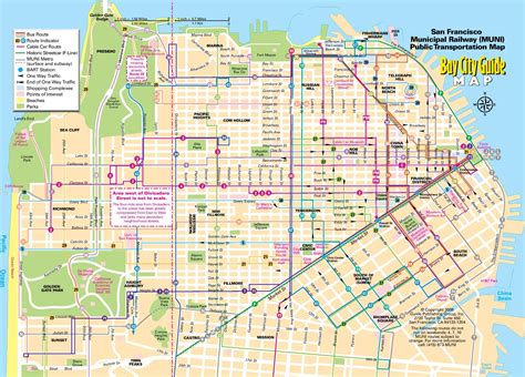 san francisco map tourist attractions san francisco map images