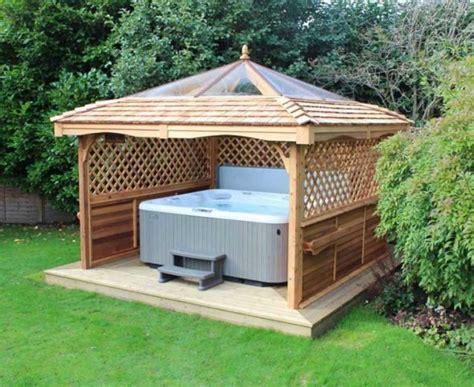 tub gazebo gazebos for tubs uk cedar lodge home interior exterior