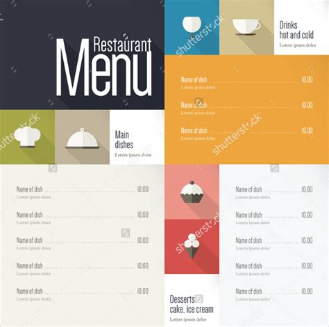 menu layout design templates 40 menu design templates free sle exle format