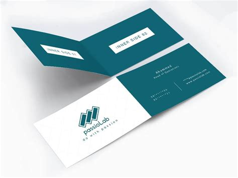 half business card template vertical half fold business card wisholize