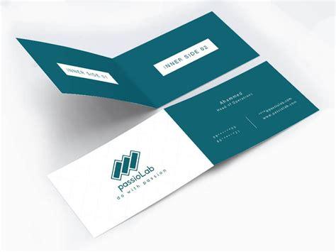 vertical fold card template vertical half fold business card wisholize