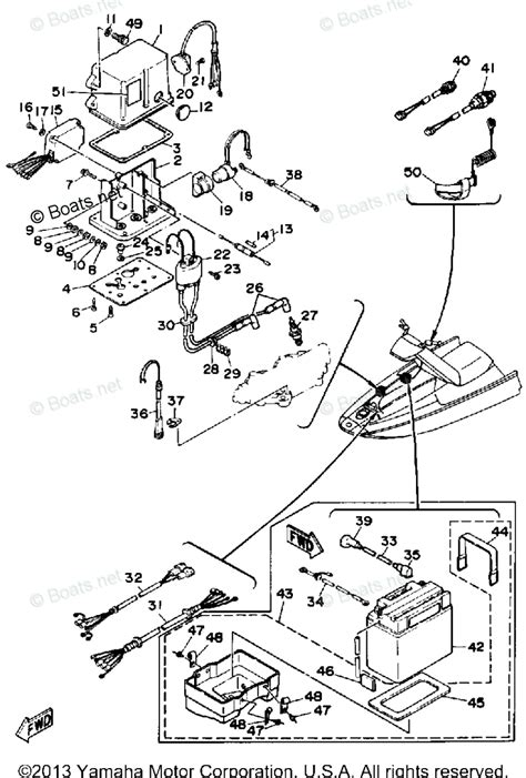 boats net yamaha parts yamaha waverunner parts 1989 oem parts diagram for