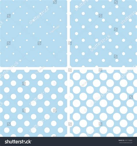seamless polka dots patterns background pastel stock vector seamless vector pattern set with tile white polka dots on