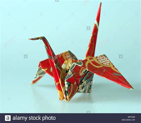 Origami Japanese Crane - japanese origami crane stock photo royalty free image
