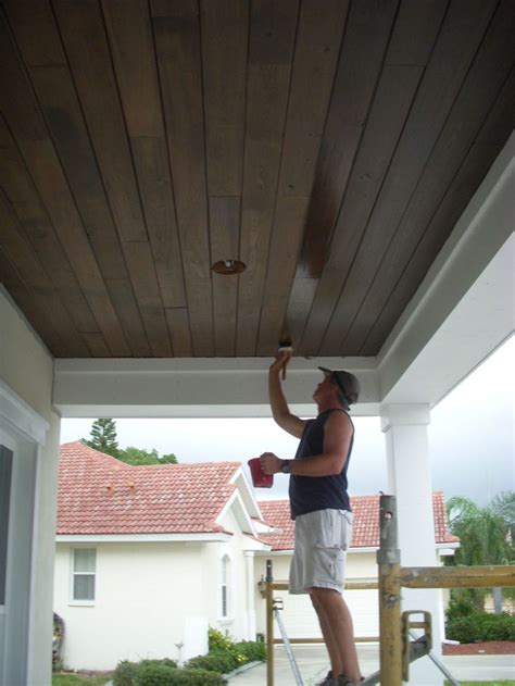 Outdoor Wood Ceiling Planks 25 Best Porch Ceiling Ideas On