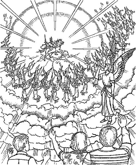 coloring page jesus coming again is coming again coloring page