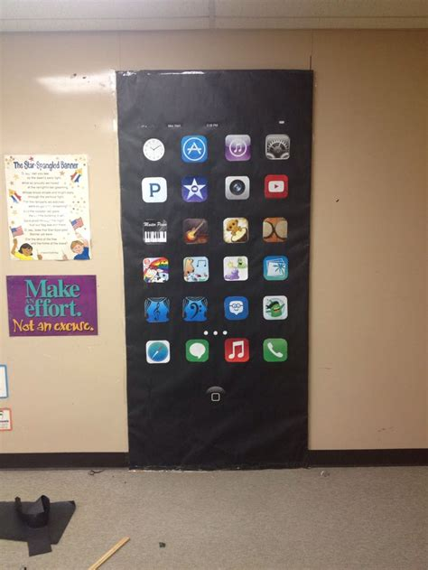 music classroom door decoration iphone with music apps