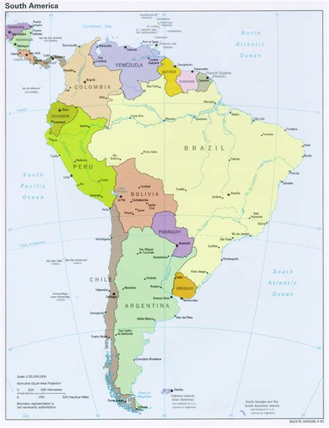high resolution map of america the world factbook 1995