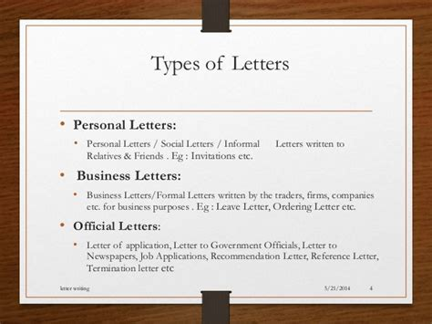 Kinds Of Business Letter And Its Definition letter writing