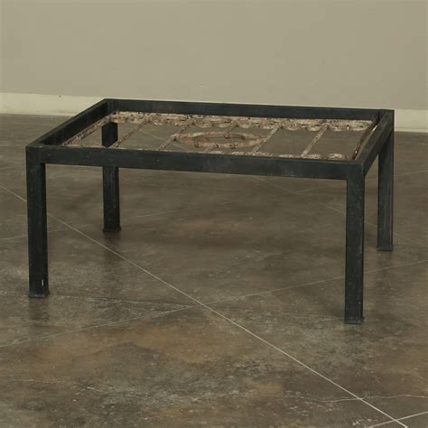 antique wrought iron panel coffee table inessa stewarts