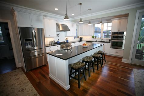 Custom Kitchen Island Design by Simple Shaker Style Sea Girt New Jersey By Design Line