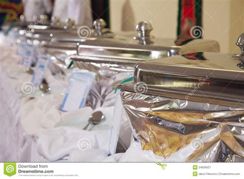 buffet heated trays royalty free stock photography image