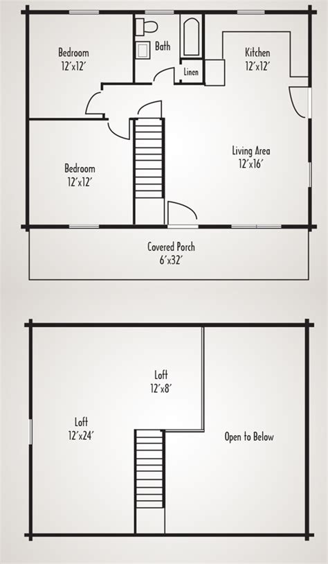 woodland log cabin home plan by coventry log homes inc