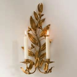 Leaf Candle Wall Sconce Gold Leaf Candle Sconce Traditional Wall Sconces Los