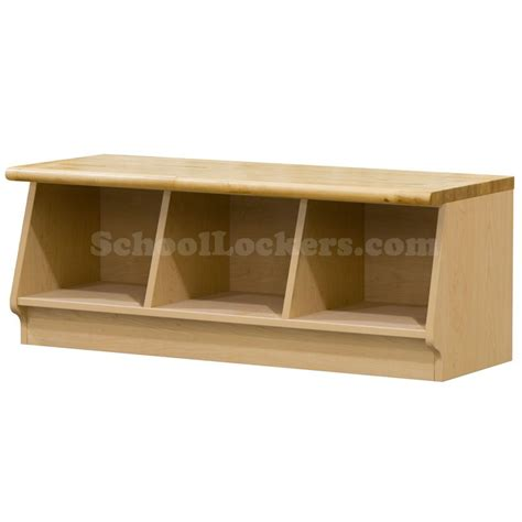 cubbie bench wood laminate cubbie bench with 3 cubbies schoollockers com