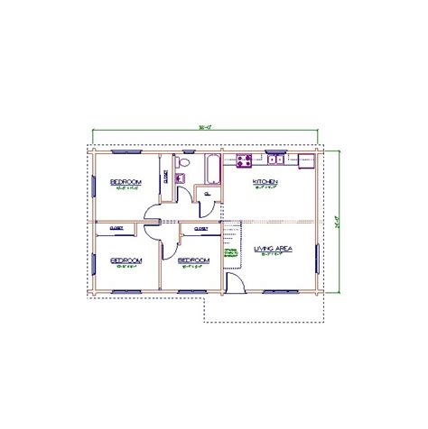 Click To Enlarge Image Floor Plan 24 X 38 Jpg 24 X 38 House Plans
