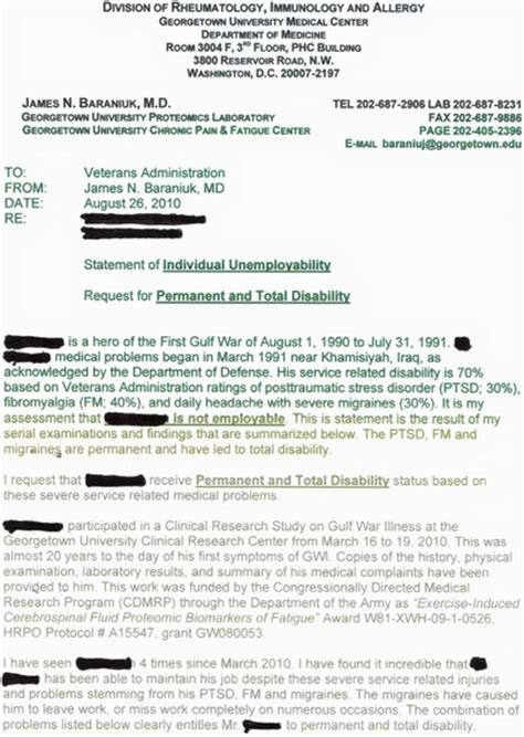 Support Letter For Va Disability Letter From Doctor In P T Permanent Total Disability Forum