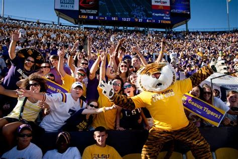 lsu student section mike knows how to get the student section going i love
